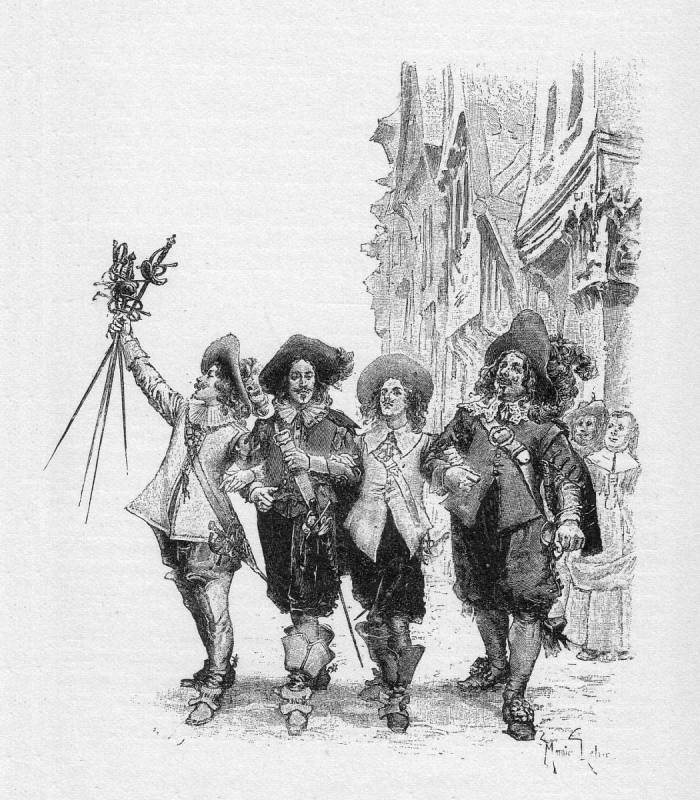 Los tres mosqueteros, por Maurice Leloir