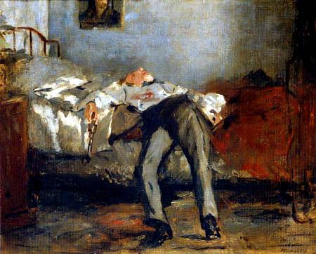El suicida, de Edouard Manet, 1877.