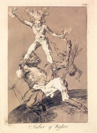 SUBIR Y BAJAR. Capricho de Goya