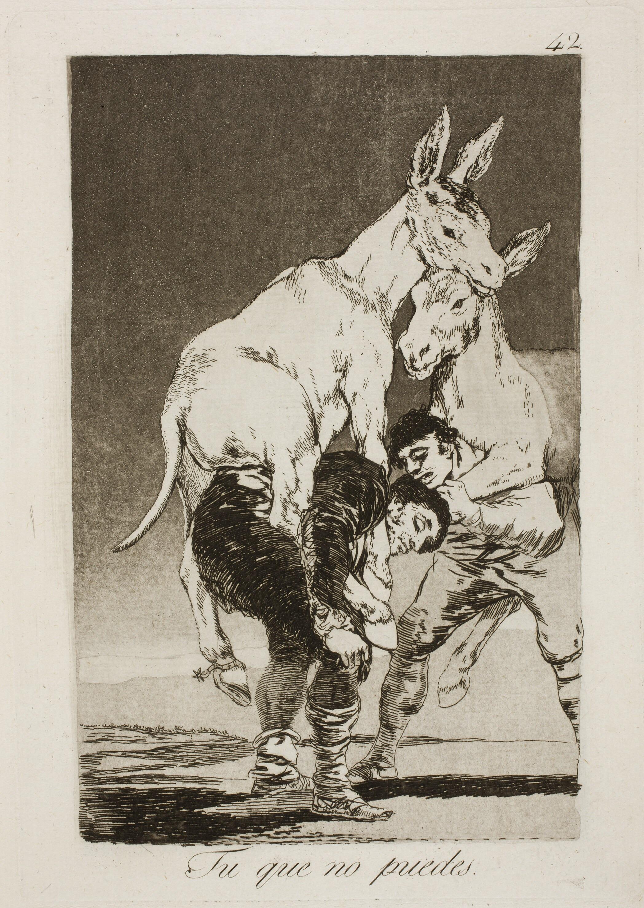 Tú que no puedes. Capricho de Goya