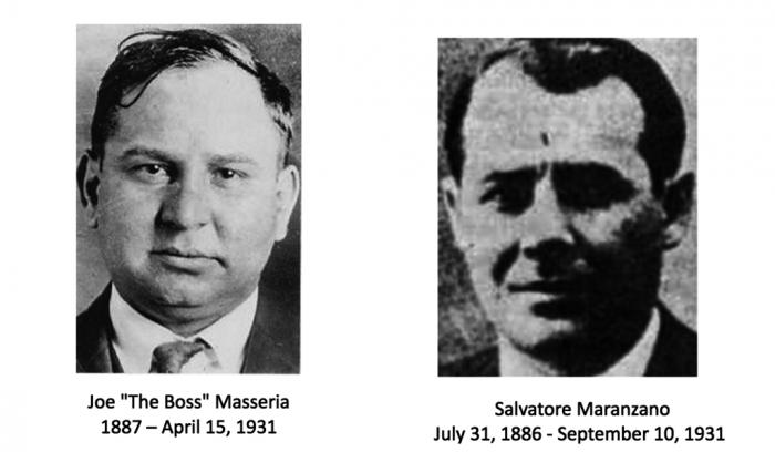 Joe Masseria y Salvatore Maranzano